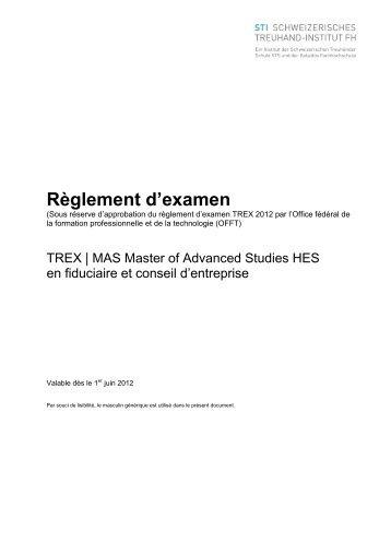 Règlement d'examen - IREF
