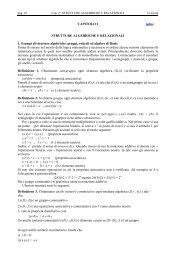 CAPITOLO 2 STRUTTURE ALGEBRICHE E RELAZIONALI 1 ... - DMI