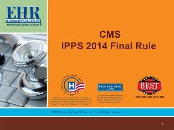 CMS IPPS 2014 Final Rule