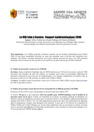 Rapport épidémiologique genevois 2008 - Groupe sida Genève