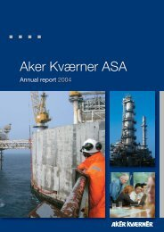 Annual report 2004 - Aker Solutions