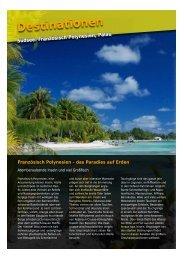 Französisch Polynesien, Palau - Roger Tours
