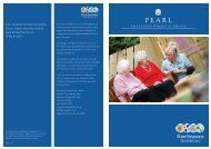 FSHC PEARL Dementia Care Brochure - Four Seasons Health Care