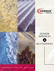 SCREEN SURFACES ACCESSORIES & - Derrick Corporation