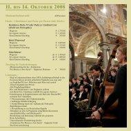 11. bis 14. oktober 2008 - Festival Internazionale di Musica e Arte ...