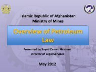 Overview of Petroleum Law-2012 - Ministry of Mines
