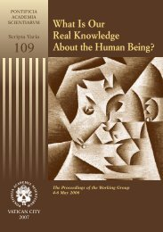 What Is Our Real Knowledge About the Human Being? - Pontifical ...