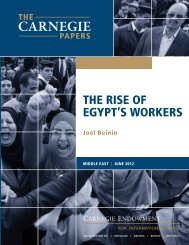 ThE RISE of EgypT'S WoRkERS - Carnegie Endowment for ...