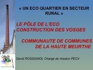 Un écoquartier en secteur rural : la Manufacture des Aulnes à Fraize
