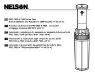 GB F E I P PRO 7000 & 7500 Series Gear Drive Installation and ...
