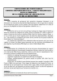 Convention de partenariat entre les Comités Départementaux et les ...