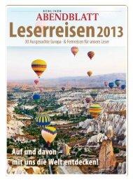 Weitere Infos zu den Reisen sowie Beratung und ... - Leserreisen
