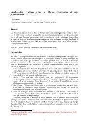 Amélioration génétique ovine au Maroc - Publications BOUJENANE