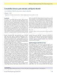 Comorbidity between panic-disorder and bipolar disorder