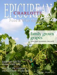January•February 2013 - Epicurean Charlotte Food & Wine Magazine
