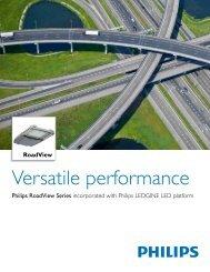 Versatile performance - Philips Lighting