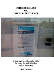 (Borgerservice og Lokalbiblioteker - Evalueringsrapport (2).pdf)