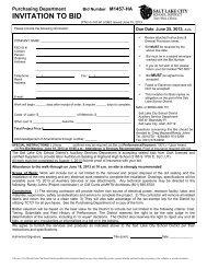INVITATION TO BID - Salt Lake City School District