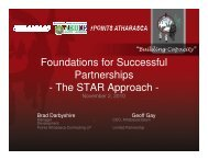 Foundations for Successful Partnerships - The STAR Approach -