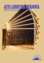ročník 2, číslo 2, 2012, issn 1804 - Vysoká škola logistiky ops