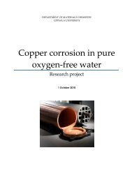 Copper corrosion in pure oxygen-free water
