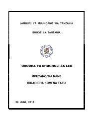 orodha ya shughuli za leo mkutano wa nane kikao cha kumi na tatu ...