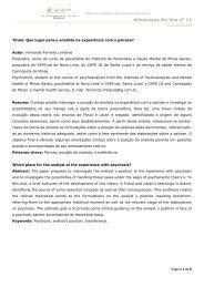 Almanaque On-line nº 12 - Instituto de Psicanálise e Saúde Mental ...