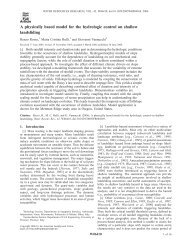 A physically based model for the hydrologic control on shallow ...
