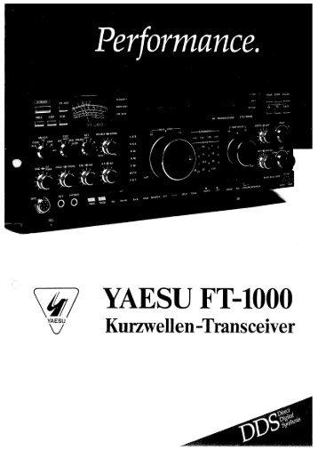 FT-1000D Handbuch (deutsch) - Thomas-alfeld.de