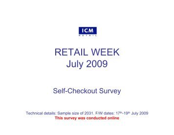 Retail Week Poll – Self-checkout - ICM Research