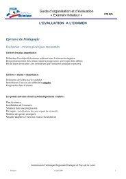 EXAMEN INITIATEUR FFESSM - Commission technique régionale ...
