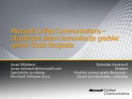Microsoft Unified Communications – Objedinjeni sistem ...