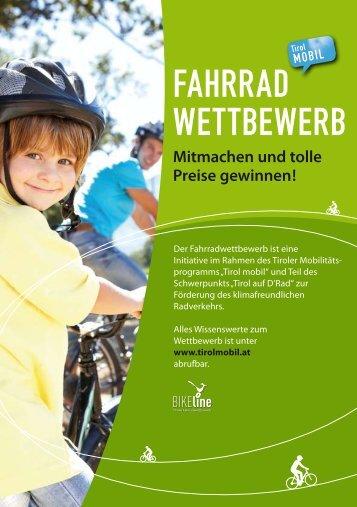 Folder - Tiroler Fahrradwettbewerb 2013