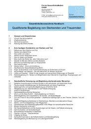 Handbuch der Demenz - Inhaltsübersicht