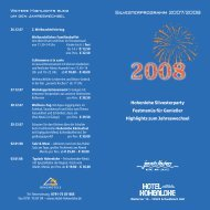 Silvesterprogramm 2007/2008 - Hotel Hohenlohe