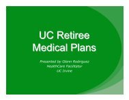 UC Retiree Medical Plans - UCI Human Resources