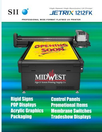 Seiko Jetrix Flatbed Printers - Midwest Sign & Screen Printing Supply