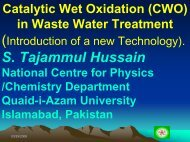 Catalytic Wet Oxidation of Industrial Organic Waste - National Centre ...