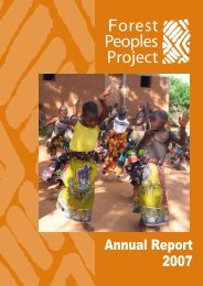 Forest Peoples Project - Annual Report 2007 ... - Marielle van Uitert