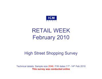 Retail Week Poll – High St shopping - ICM Research