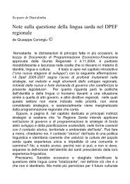 Note sulla questione della lingua sarda nel DPEF regionale