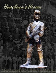 Buffalo Soldier Portfolio - Fort Huachuca - U.S. Army