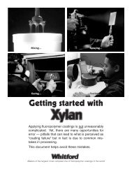 Getting Started with Xylan - Whitford Corp