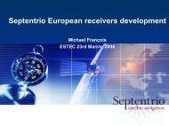 Septentrio European receivers development - Esa