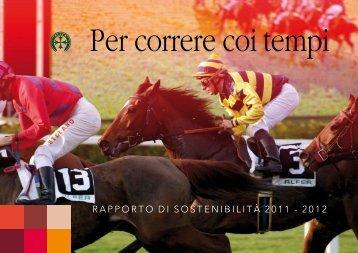 rapporto di sostenibilità 2011 - 2012 - Ippodromo San Rossore