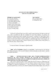 ACTA DA XUNTA DE GOBERNO LOCAL Sesión ... - Concello de Vigo
