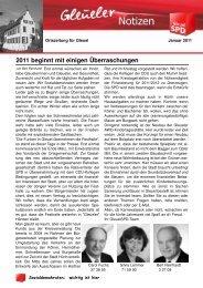 Gleueler Notizen Januar 2011 - SPD Ortsverein Hürth