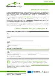 www.ardan.es/exportacion FORMULARIO DE PARTICIPACIÓN ...