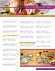 Downsizing Calories and Portions - American Culinary Federation