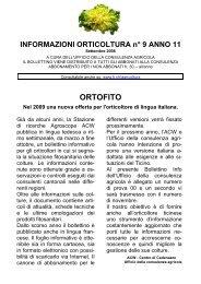 Informazioni orticoltura no. 09/2008